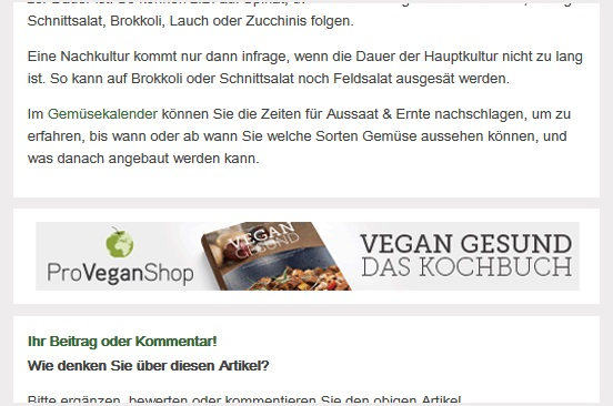 In Page Mobile Banner Seitenende (Responsive)